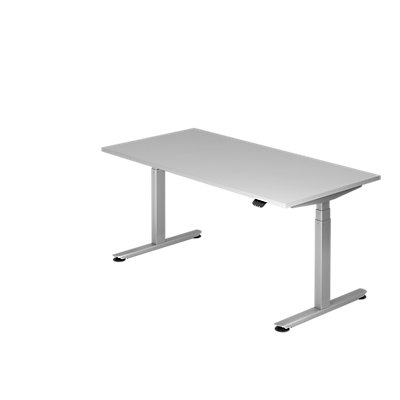 Hammerbacher Schreibtisch, elektrisch höhenverstellbar, Breite 1600 mm
