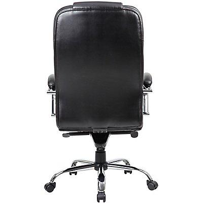 Leder-Bürodrehstuhl Verona - mit Armlehnen