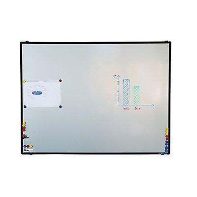 Smit Visual Whiteboard BALU von Certeo  - BxH 1200 x 900 mm - Alu-Rahmen, schwarz anodisiert