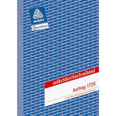 Avery Zweckform Auftragsformular 1726 DIN A5 3x40Blatt