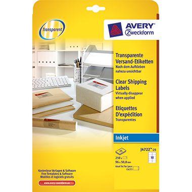 Avery Zweckform Adressetikett J4722-25 tr 250 St./Pack.