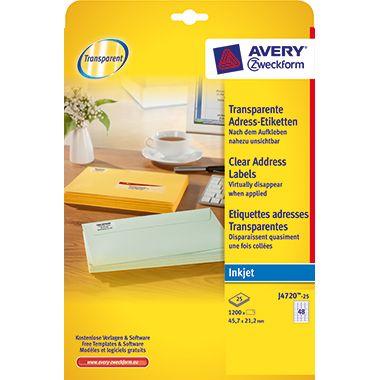 Avery Zweckform Adressetikett J4720-25 tr 1.200 St./Pack.