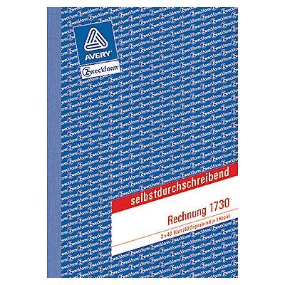 Avery Zweckform Rechnung 1730 DIN A5 2x40Blatt