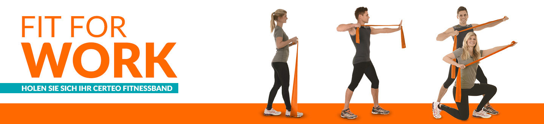 Fit for work - holen Sie sich ihr Certeo Fitnessband