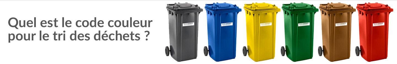 Quel est le code couleur pour le tri des déchets ?