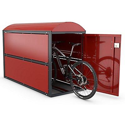 WSM Fahrradgarage BikeBox2, komplett, Außenmaße HxBxT 1380 x 850 x 2080 mm