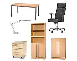 Büro-Set Deluxe - Büro-Set Deluxe Buche-Dekor