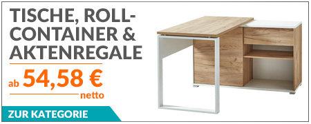 Tische, Rollcontainer und Aktenregale von Germania
