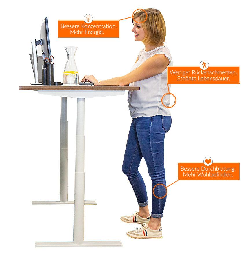 Höhenverstellbarer Schreibtisch - die Vorteile entdecken