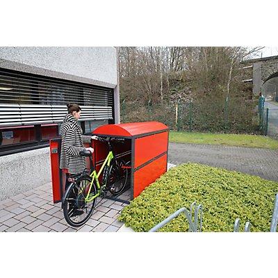 WSM Fahrradgarage BikeBox2 Maxi, komplett, Außenmaße HxBxT 1820 x 1060 x 2580 mm