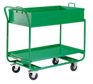 EUROKRAFT Active Green Chariot à plateaux