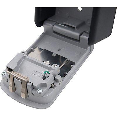 Schlüsseltresor | Zahlenschloss 4-stellig | HxBxT 122 x 87 x 40 mm | newpo