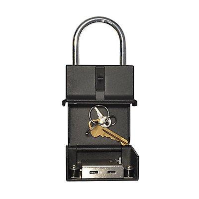 newpo Schlüsseltresor mit Bügel | Zahlenschloss | HxBxT 150 x 80 x 30 mm