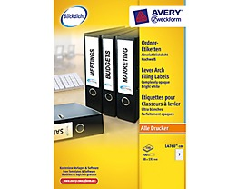 Avery Zweckform Ordneretikett L4760-100 38x192mm ws 700 St./Pack.