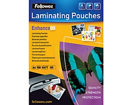 Fellowes Laminierfolie Enhance 80 5452101 DIN A4 tr 100 St./Pack.