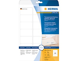 HERMA Folienetikett 8017 63,5x38,1mm tr 525 St./Pack.