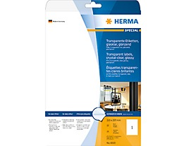 HERMA Folienetikett 8020 210x297mm tr 25 St./Pack.