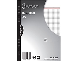 Chronoplan Notizen 50304 DIN A5 kariert 50 Bl./Pack.