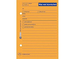 Avery Zweckform Notizblock 1014 DIN A6 Abheftlochung 50Bl. orange