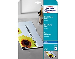 Avery Zweckform Inkjetfolie 2500 DIN A4 transparent 10 St./Pack.