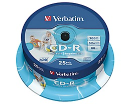 Verbatim CD-R  52x 700MB 80Min. Spindel  St./Pack.