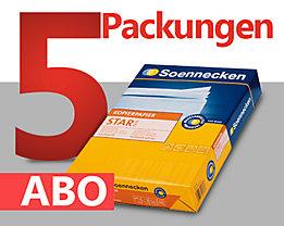 Soennecken Kopierpapier Star Abo - monatlich 5 Packungen á 500 Bl.