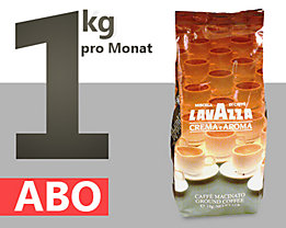 Kaffee – Abo - Lavazza Kaffee Crema e Aroma,  ganze Bohnen 1kg