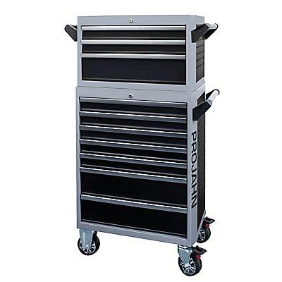 PROJAHN | Bestückter Werkstattwagen GALAXY + Werkstattwagenaufsatz GALAXY + Dosenhalter +