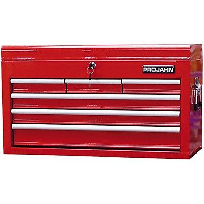 PROJAHN | Werkzeugkoffer mit 6 Schubfächern rot