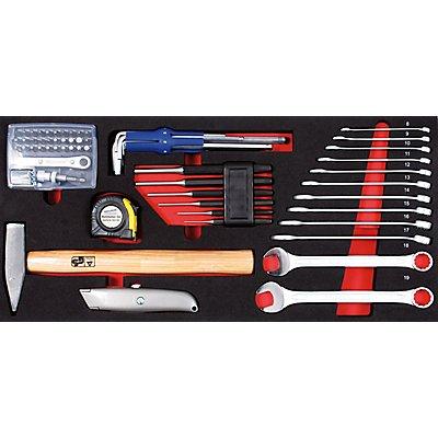 PROJAHN | Schlüssel und Werkzeug Einlage 49tlg zu Werkzeugkoffer 5902