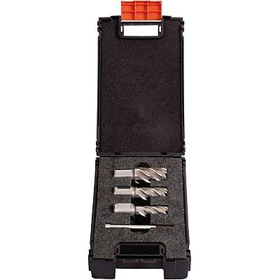 PROJAHN | Kernbohrer mit Weldon in MAMBO-BOX 4tlg. Ø 14/18/22 mm, 1 Führungsstift