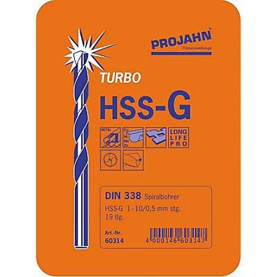 PROJAHN | Bohrerkassette HSS-G 19tlg 1-10/0,5 mm TURBO
