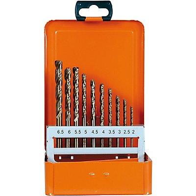 PROJAHN | Kassette 1plus DIN 338 HSS-G 36 tlg je 5 Stück: 2 - 2,5 - 3 - 3,5 mm je 3 Stück: