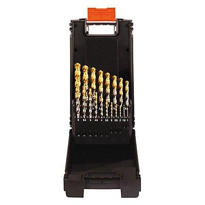 PROJAHN   Kassette Kunststoff HSS-G TiN 19tlg. 1 - 10 mm