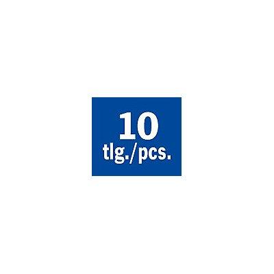 PROJAHN | Frässtifte HM, 5tlg in Kunststoffpack Form B, C, D, E, G Kopf-Ø 9.6 mm