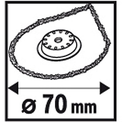 PROJAHN   Mörtelentferner, Carbide Technology, Starlock, 70mm, 1 VE