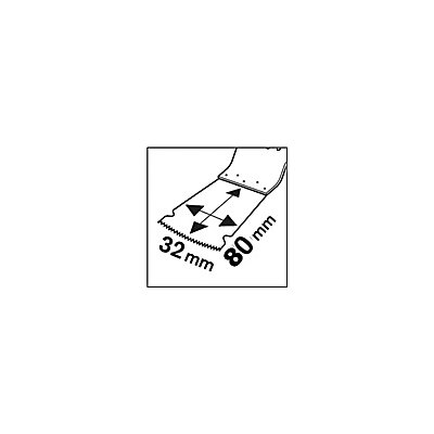 PROJAHN | Tauchsägeblatt für Holz &#38, Metal, BIM , Starlock Max , 32mm x 80mm, 1 VE