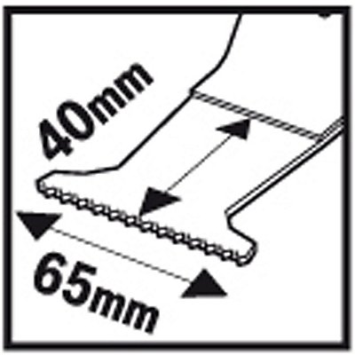 PROJAHN | Tauchsägeblatt für Holz &#38, Metal, BIM, Starlock, 65mm x 40mm, 5 VE