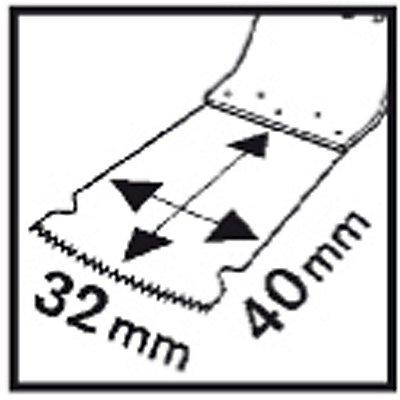 PROJAHN | Tauchsägeblatt, HM, Metal, SC, 32x40 mm, VE 5