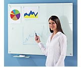 Glas-Whiteboard - BxH 900 x 600 mm