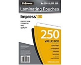 Fellowes Laminierfolie Impress 100 5313904  DIN A4 tr 250 St./Pack.